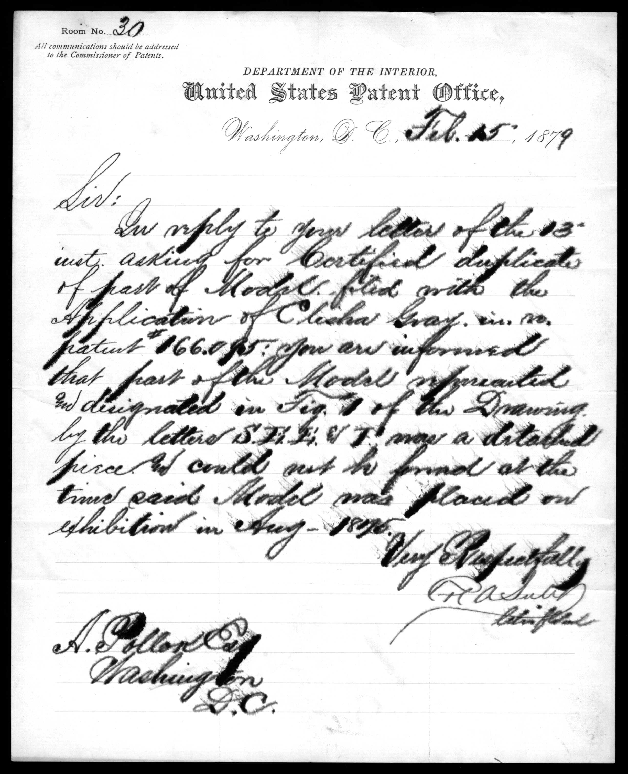 2454x3022 Letter From H. A. Sully To Anthony Pollok, February 15, 1879
