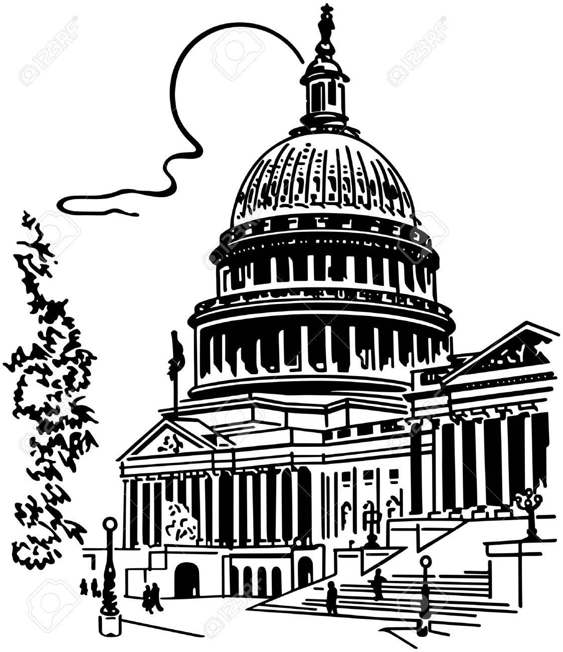 1123x1300 Us Capitol Building Royalty Free Cliparts, Vectors, And Stock