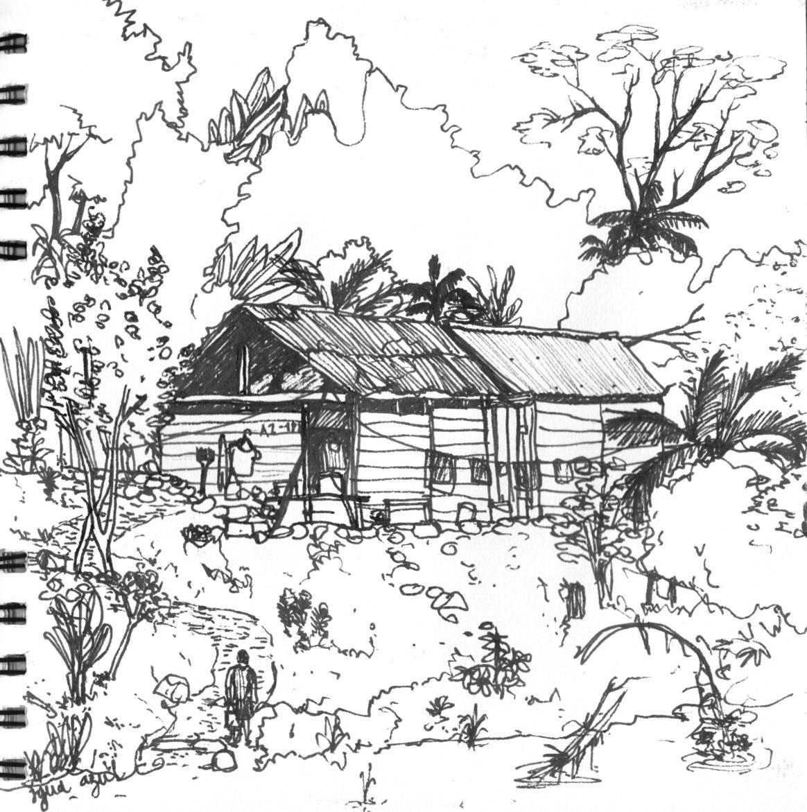 1164x1171 Vernacular Architecture Of Chiapas, Mexico Urban Sketchers