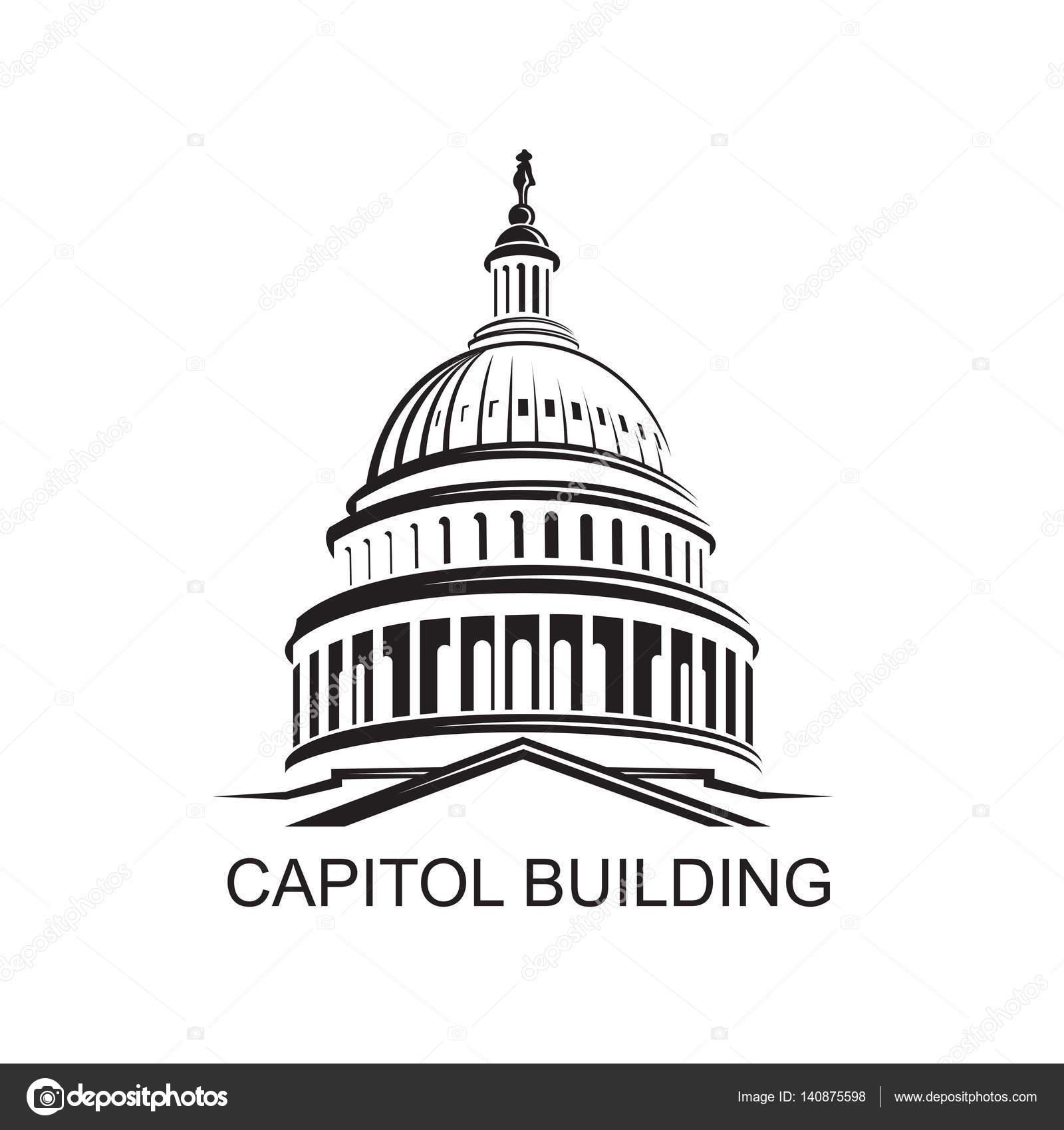1600x1700 Capitol Building Icon Stock Vector Alexkava