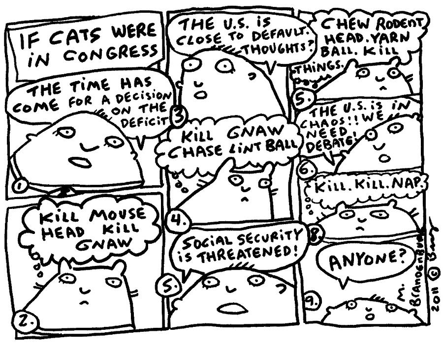 900x706 If Cats Were In Congress Drawing By Molly Brandenburg