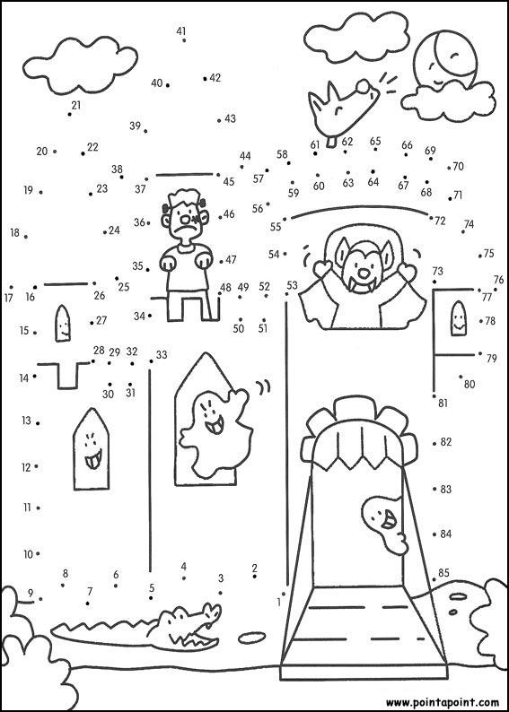 567x794 Connect Dots Halloween Coloring Pages Halloween Connect