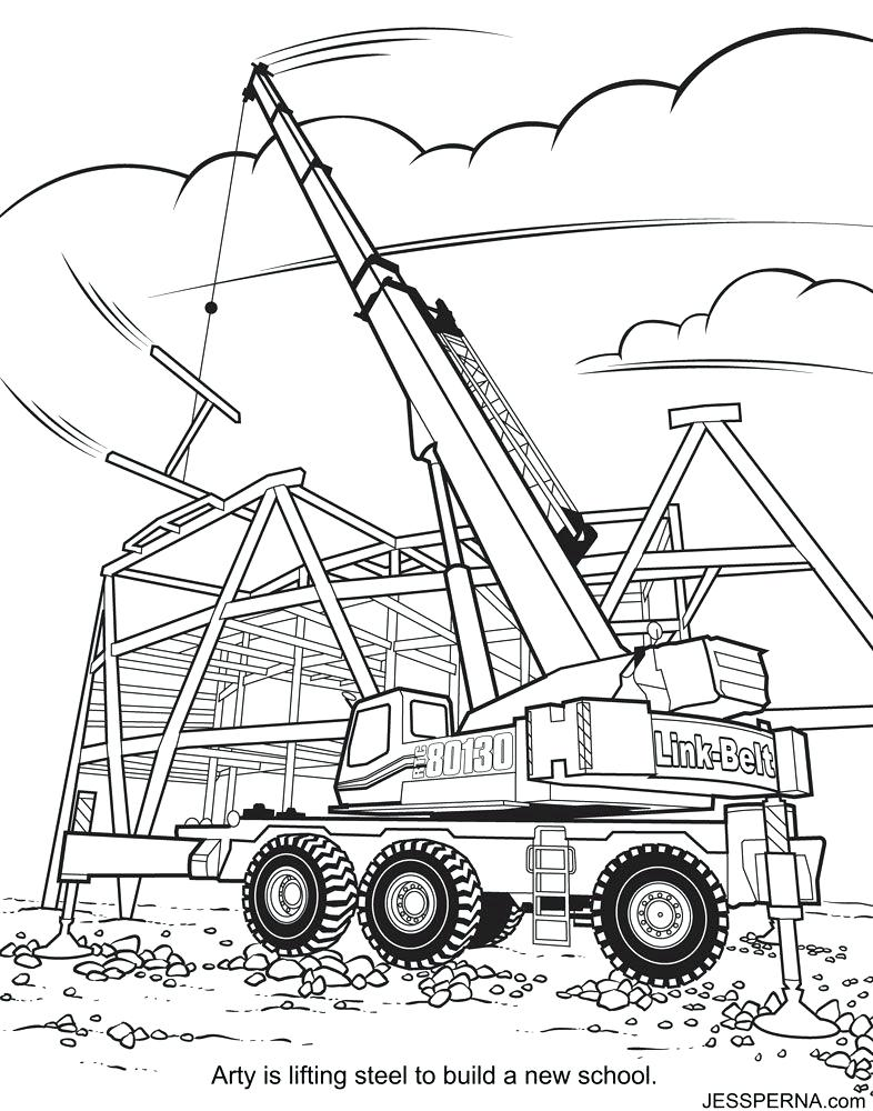 786x1000 Construction Equipment Coloring Pages Construction Coloring Page