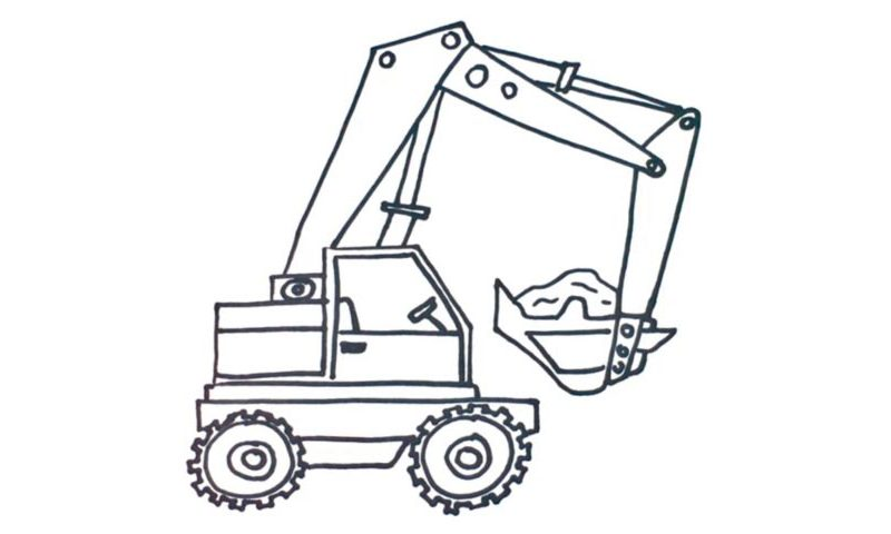 800x480 How To Draw A Crane