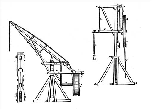510x374 Initially, Most Cranes Used In Medieval Construction Work Were