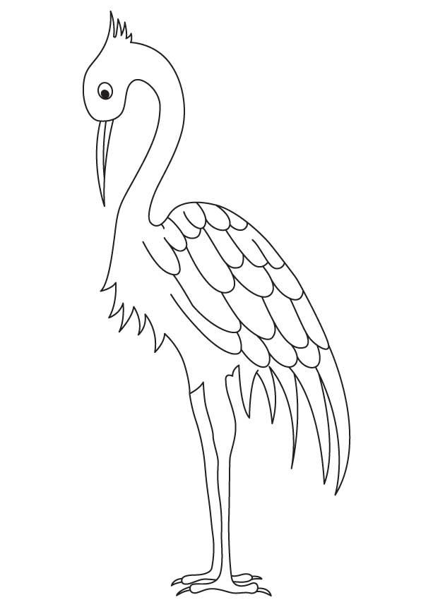 613x860 Long Legged Crane Coloring Page Download Free Long Legged Crane