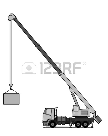360x450 Tower Crane Vector Shape Isolated On White Background. Royalty