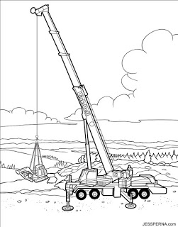 251x320 Coloring Book Illustrator For Construction Crane Drawings How
