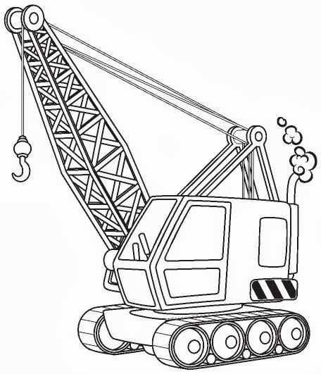 456x531 Construction Crane Coloring Pages In Sweet Page Image Kids