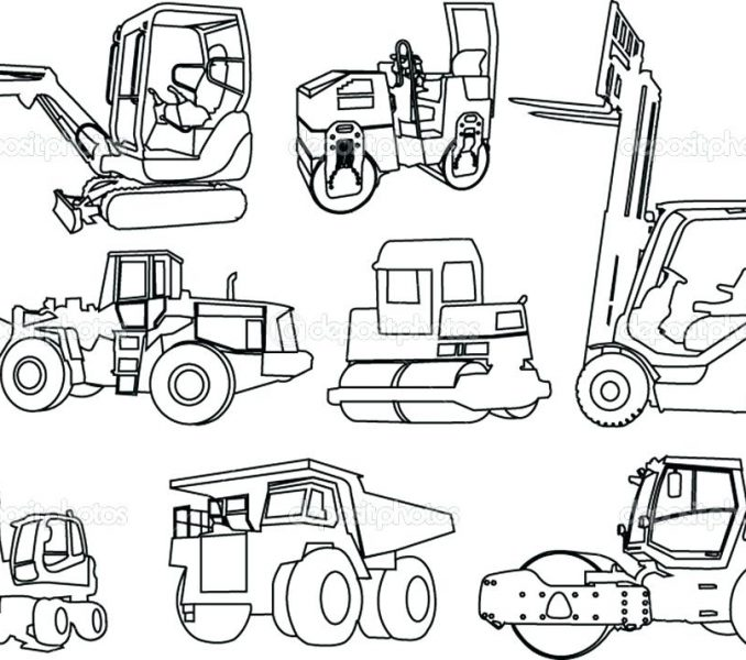 678x600 Construction Coloring Page Construction Coloring Pages 7503 Color