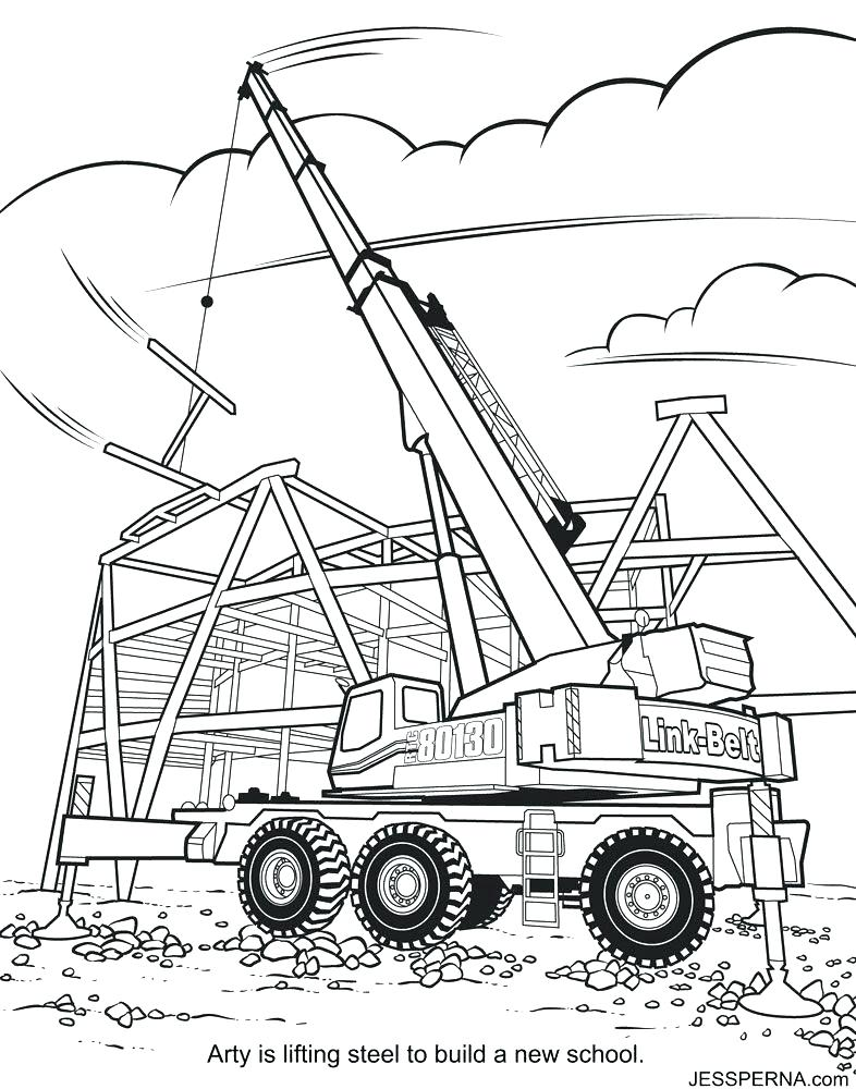 786x1000 Construction Coloring Pages Free Construction Worker Coloring
