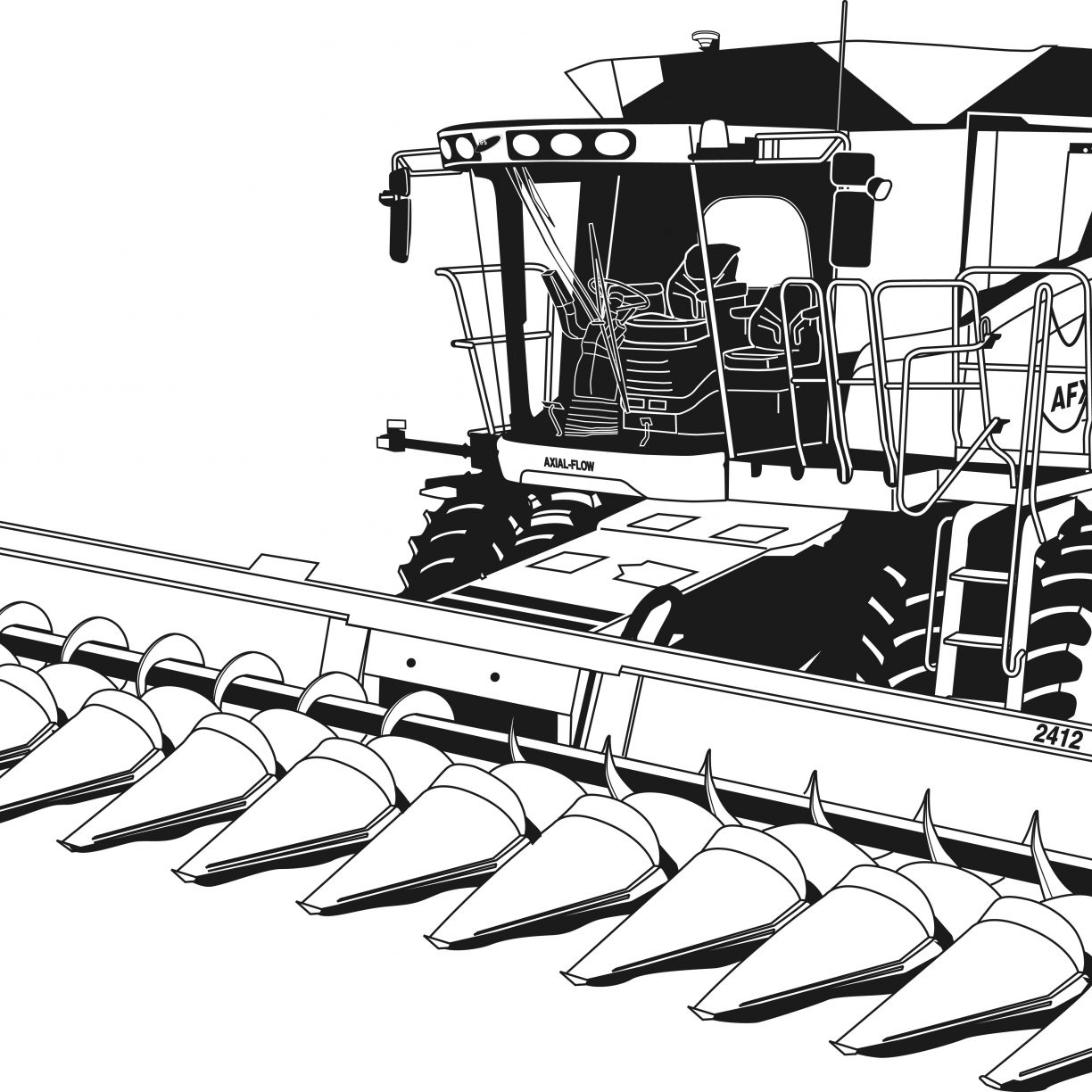 Construction Equipment Drawing at GetDrawings.com | Free for ...