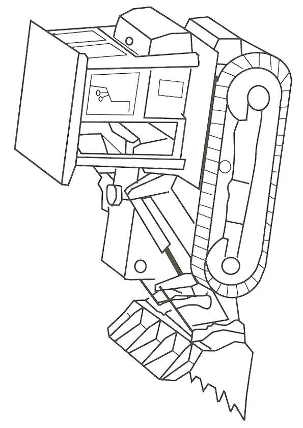 595x842 Construction Coloring Construction Machine Asphalt Compactor