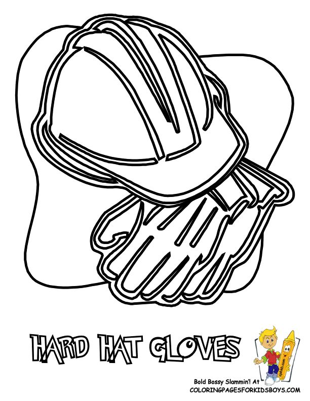 Construction Hat Drawing