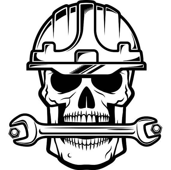 570x565 Construction Skull