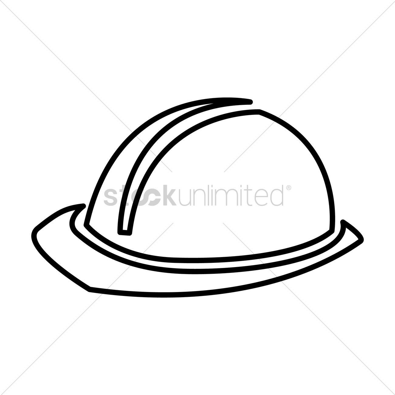 1300x1300 Construction Worker Cap Vector Image