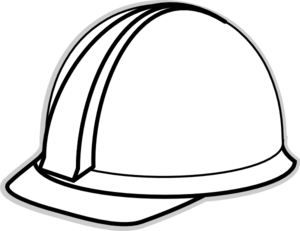 300x231 White Hard Hat 2 Clip Art