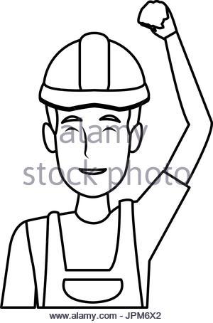 300x454 Construction Worker Avatar Character Vector Illustration Design