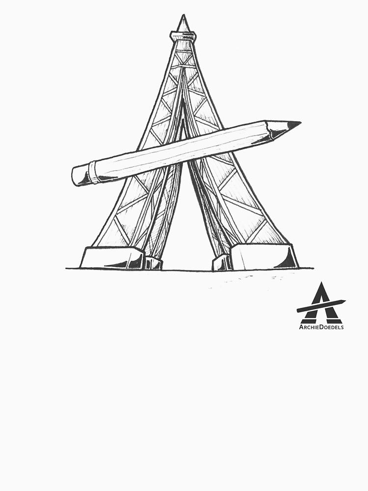 750x1000 Architecture Construction Line Sketch Unisex T Shirt By