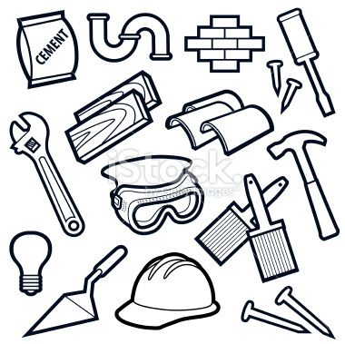 Construction Tools Drawing