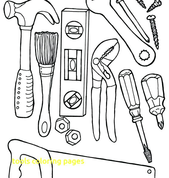 carpenter tools coloring pages - photo#6