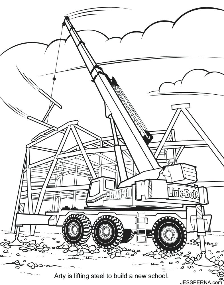 786x1000 Construction Truck Coloring Pages Free Construction Truck Coloring