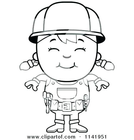 450x470 Construction Worker Coloring Page Construction Worker Coloring