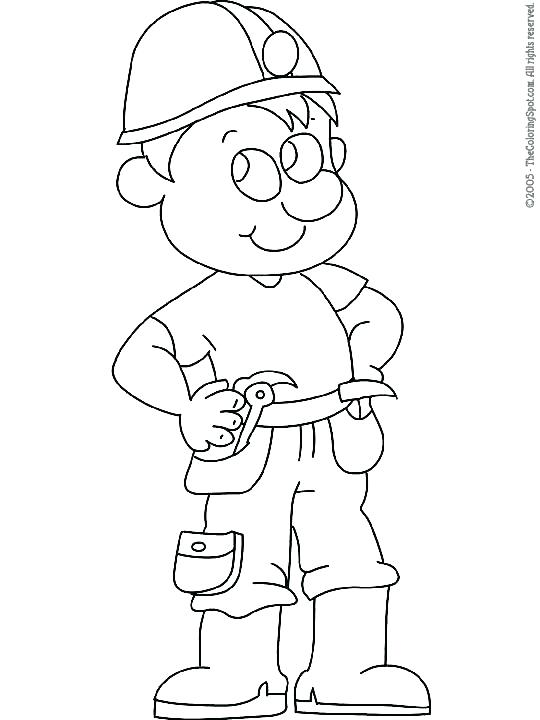 540x720 Construction Worker Coloring Pages Construction Worker Colouring