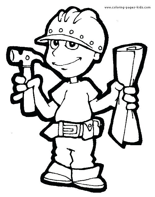 construction worker drawing at getdrawings com free for personal