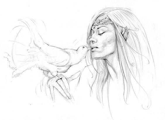 564x411 Eternal Kiss Ferhat Edizkan My Drawings Charcoal