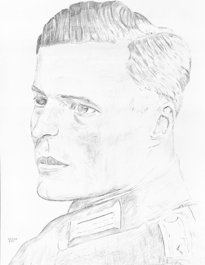 696x900 Von Stauffenberg Hero Drawing By Dennis Larson