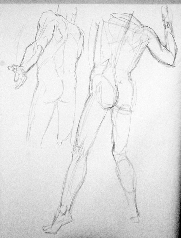 609x800 Art Of Ray Lederer July 2010 Life Drawing Part 1