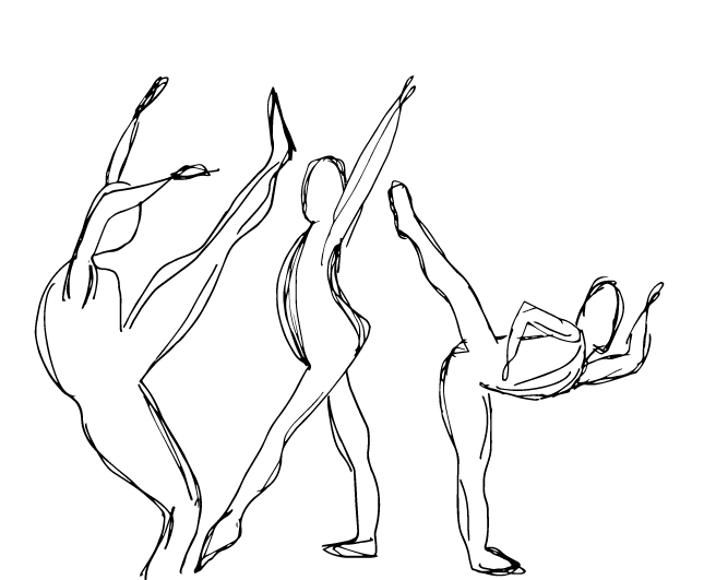 Contemporary Dance Drawing