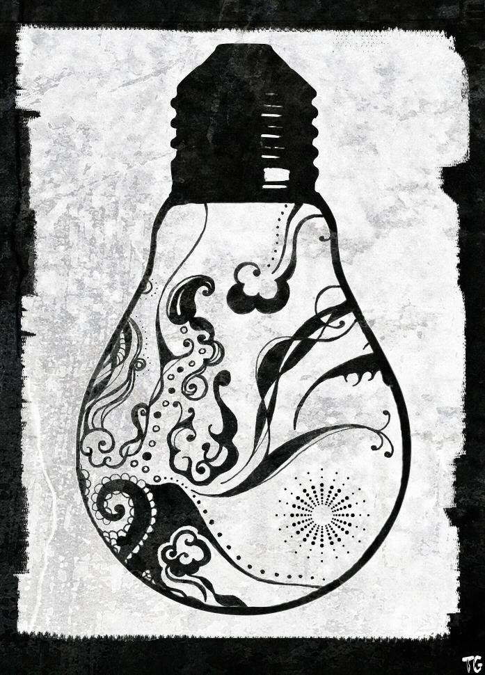697x970 Light Bulb Abstract, Tiffany Graham Art (Contemporary