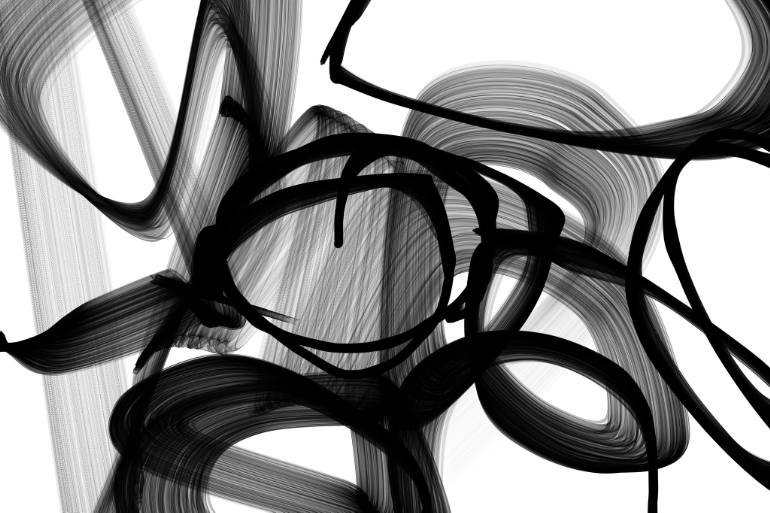 770x513 Saatchi Art Abstract Poetry In Black And White 88, 40 X 60 X 1.5