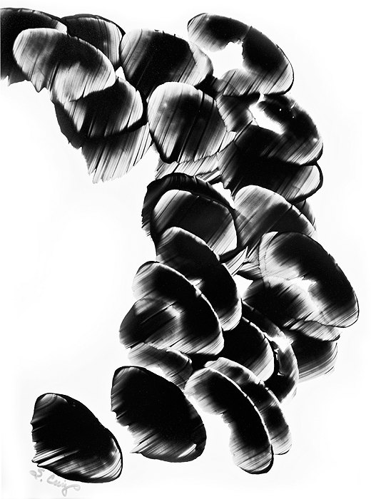 520x700 White Black Painting Bw Abstract Art Artwork High Contrast Depth