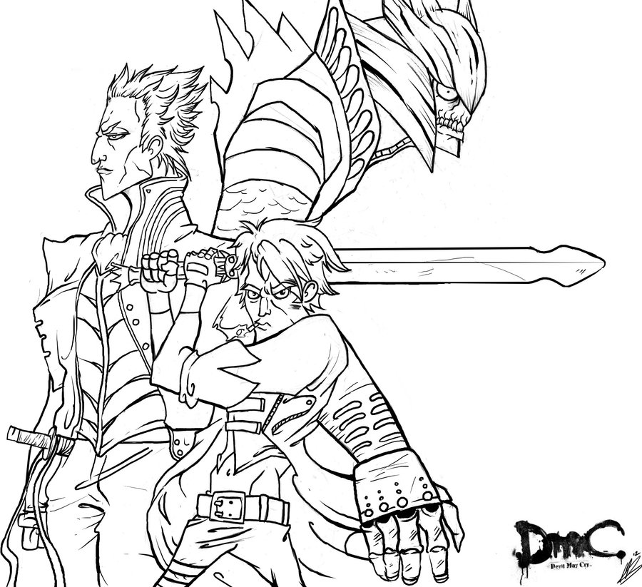 900x823 Devil May Cry Contest Drawing By Funeralofhearts0