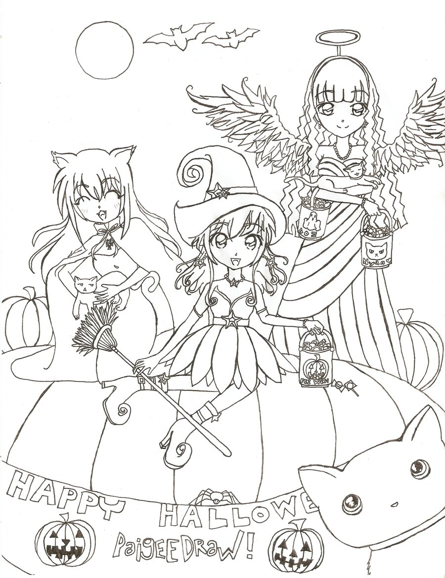 900x1168 Halloween Paigeedraw Contest Drawing By Sumiki