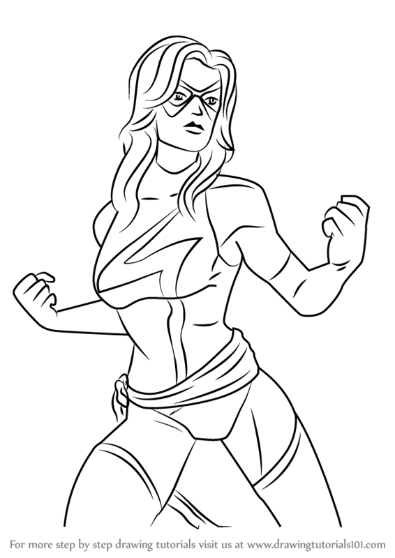 566x800 Learn How To Draw Ms. Marvel From Marvel Contest Of Champions