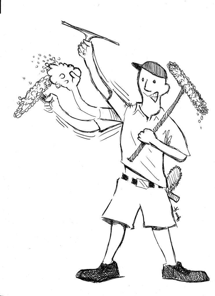 743x1024 Window Cleaning Cartoon Caption Contest