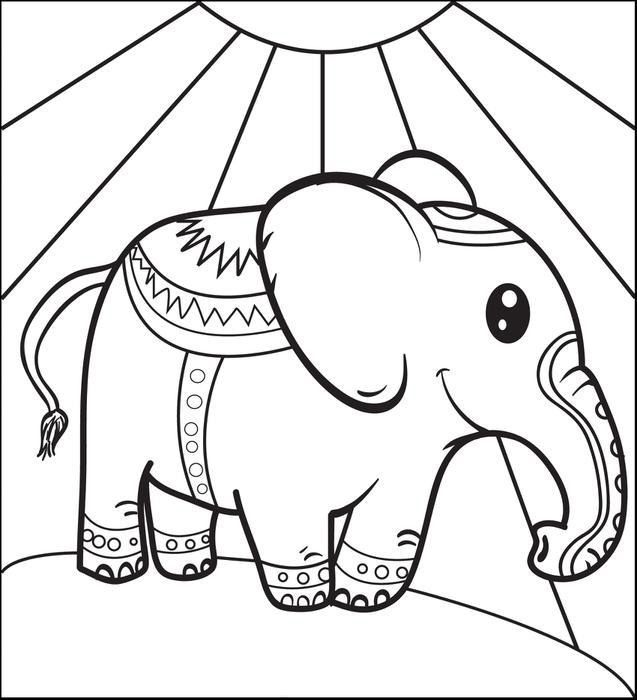 637x700 Coloring Contest Carden Circus