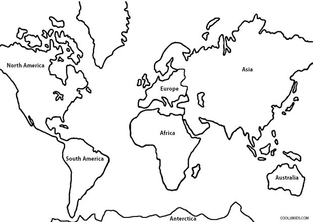 Continent drawing at getdrawings free for personal use 620x439 printable world map coloring page for kids cool2bkids gumiabroncs Images