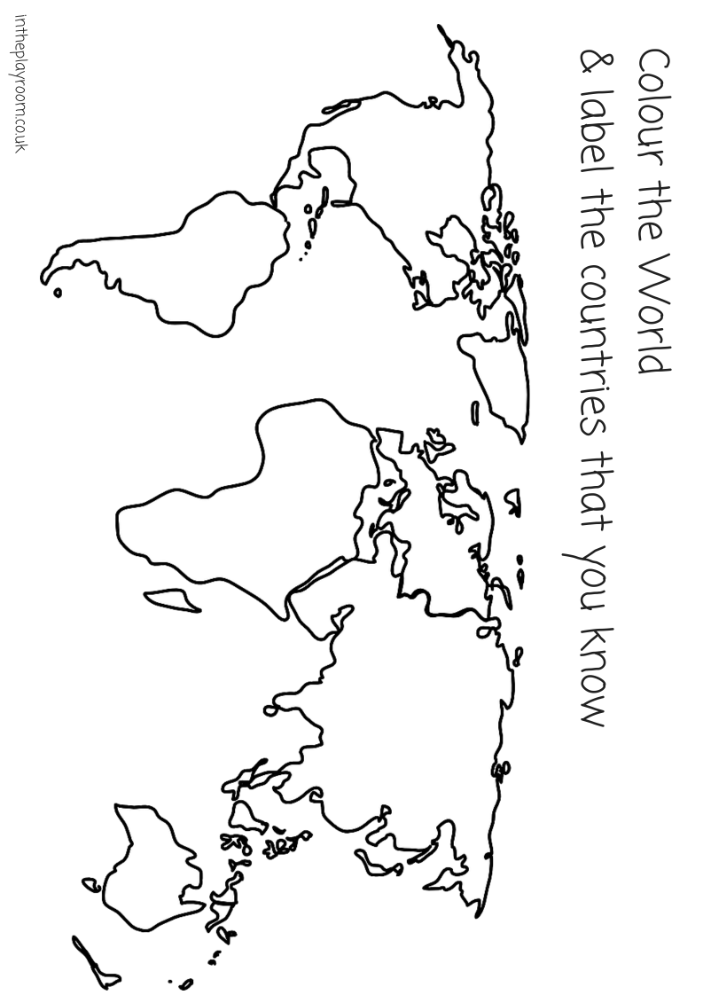 coloring pages for continents | Continents Drawing at GetDrawings.com | Free for personal ...