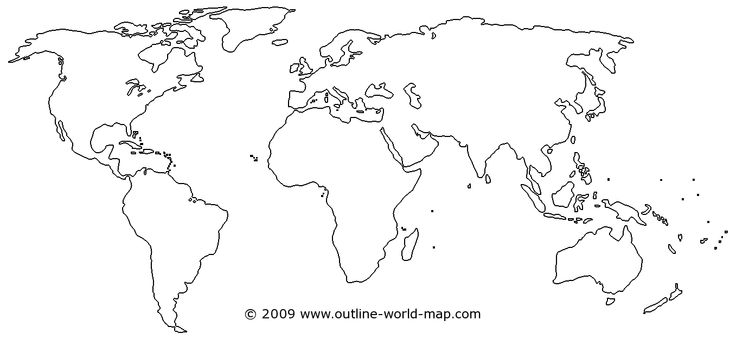 Continents drawing at getdrawings free for personal use 736x340 pictures world map drawing outline gumiabroncs Image collections