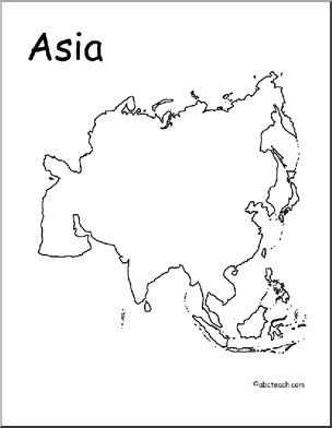 304x392 Asia Continent Map Outline