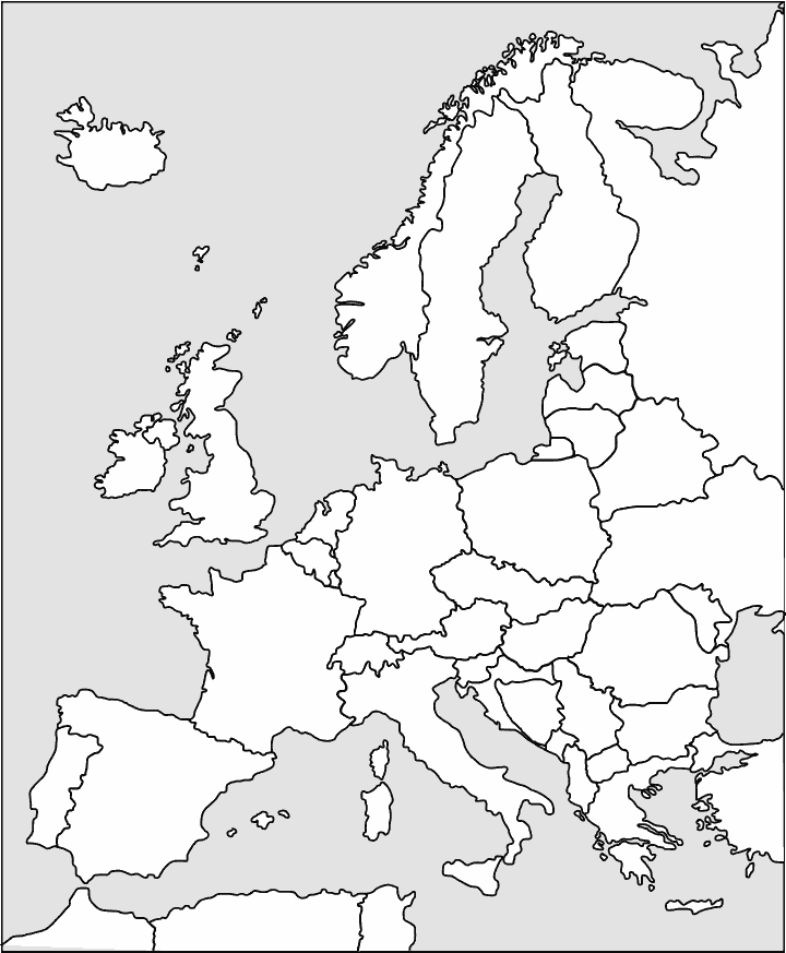 720x873 Europe Outline