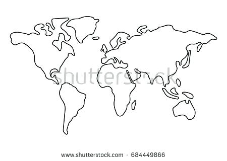Continents drawing at getdrawings free for personal use 450x320 world map outline bfie gumiabroncs