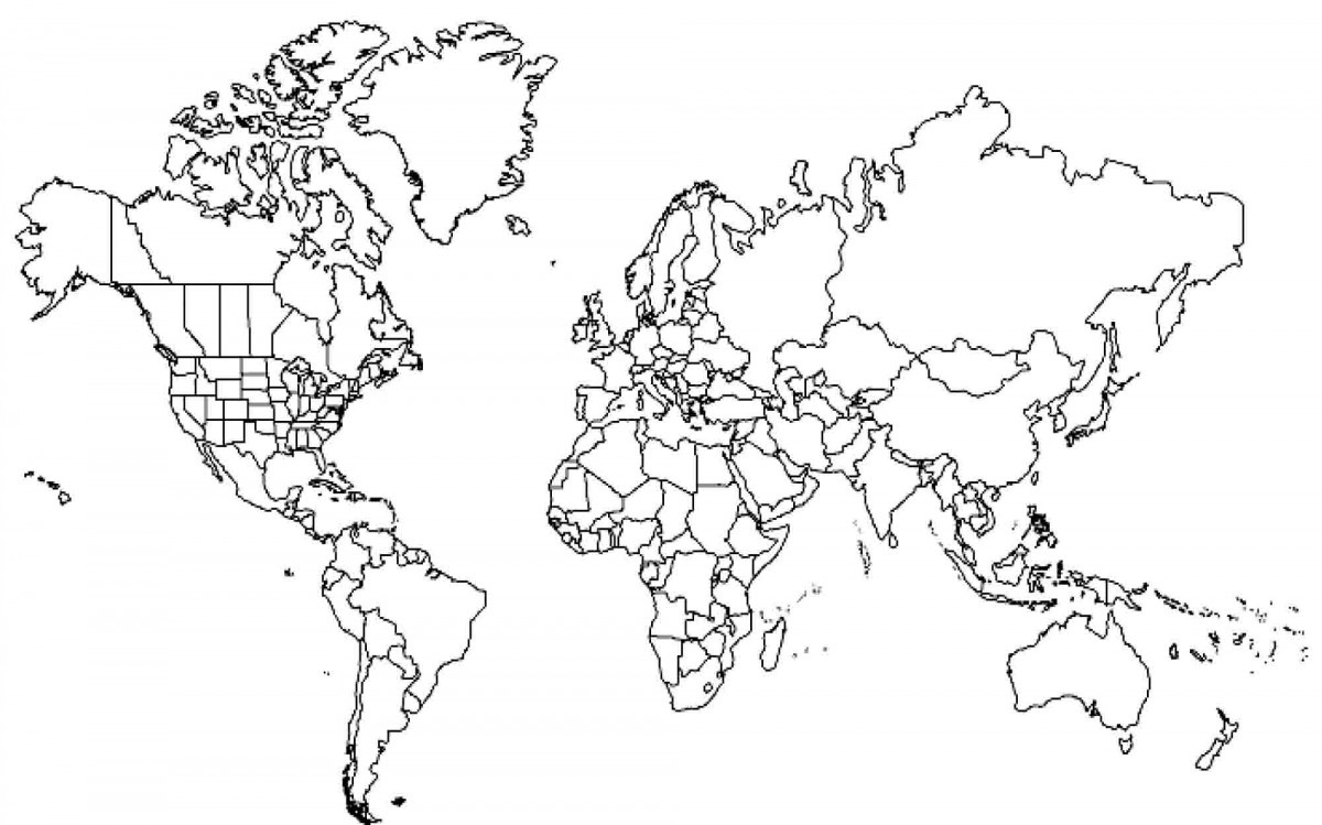1200x749 coloring pages world map coloring pages continents page world