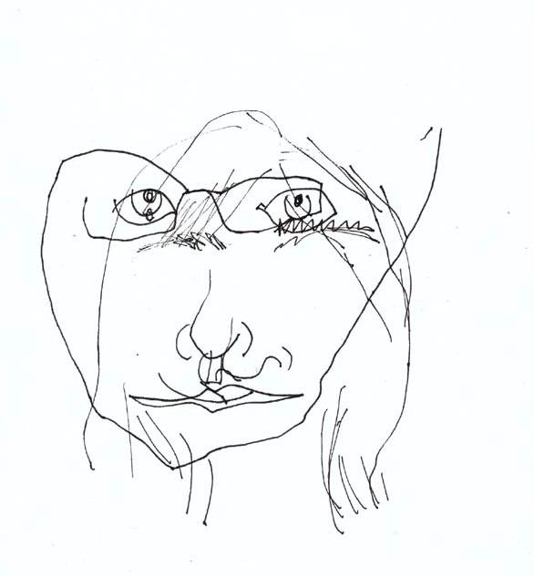 Contour Line Drawing Self Portrait : Continuous contour line drawing at getdrawings free