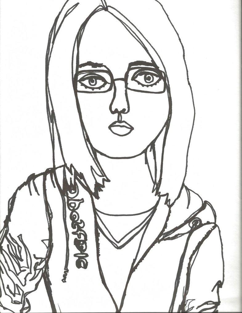 786x1017 Self Portrait Line Drawing Continuous Contour Line Self Portrait